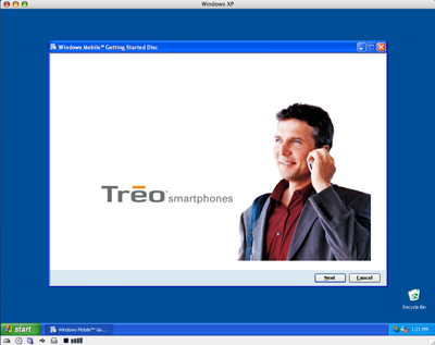 Treo 700w on a Mac