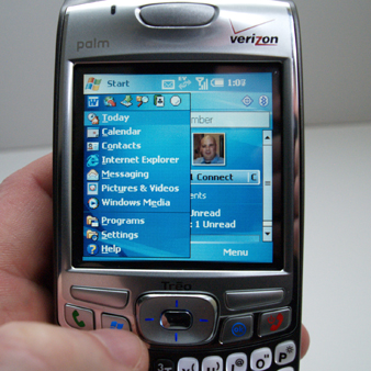 Windows Start menu on Treo 700w