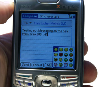 Text messaging on Treo 680