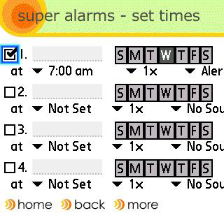 Treo alarms