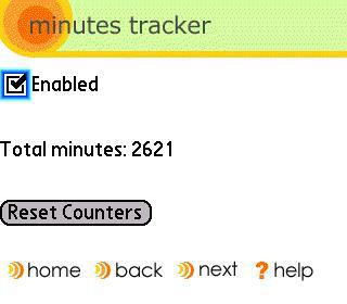 Treo minutes tracker