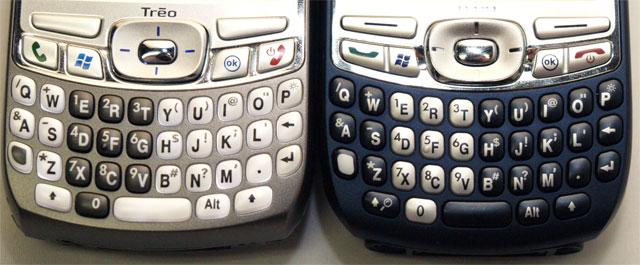 Treo 750 keyboard