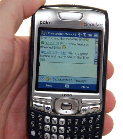 Threaded SMS on Treo 750