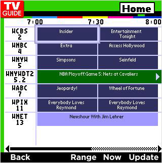 Access TV Guide through On Demand