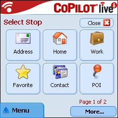 CoPilot Live 6 Home Screen