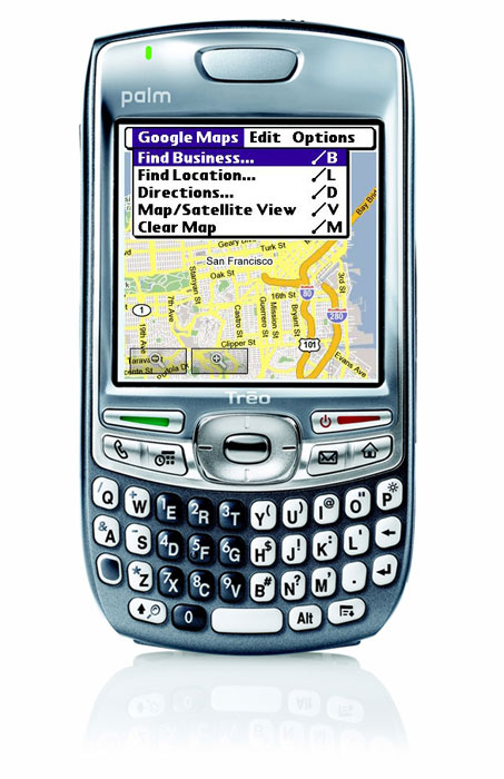 Google Maps on Treo Smartphone