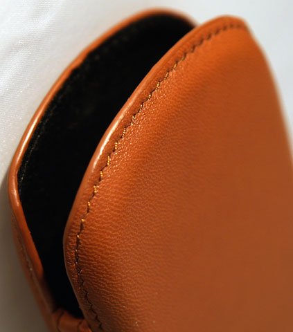 Sheepskin leather case
