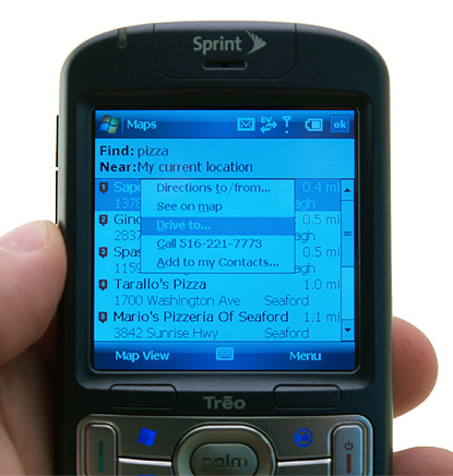GPS on Treo 800w