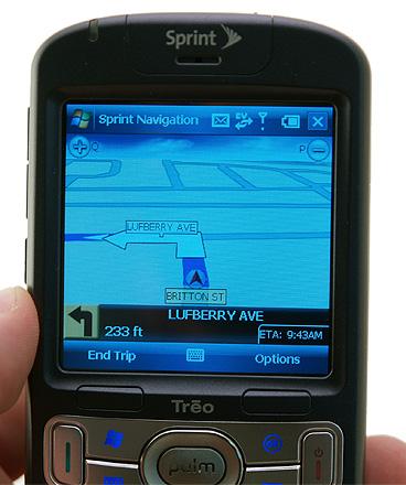 3D navigation on Treo 800w