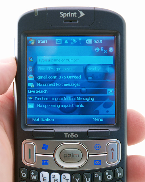 Palm Treo 800w today