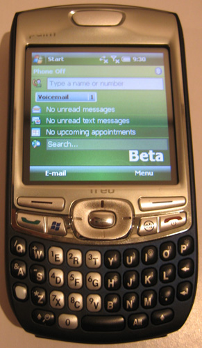Treo 750 Running Windows Mobile 6