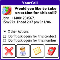 Manage contacts on Treo