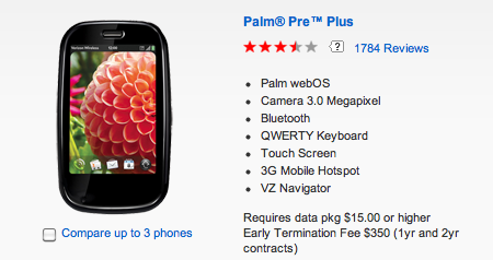 Palm Pre Plus Verizon