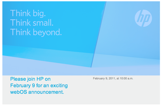 HP webOS announcement