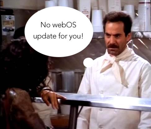 No webOS update