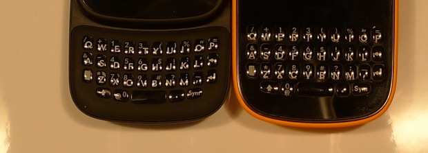 HP Veer keyboard vs Palm Pixi Plus keyboard