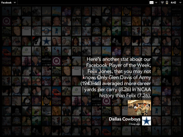 Facebook TouchPad Exhibition mode