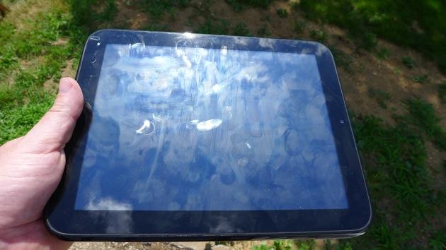 HP TouchPad fingerprints