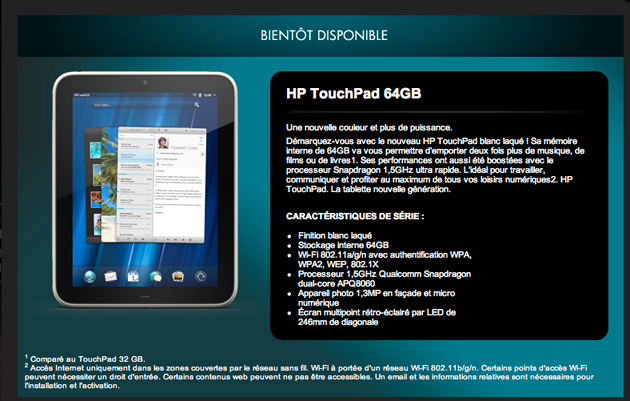 HP TouchPad 64GB