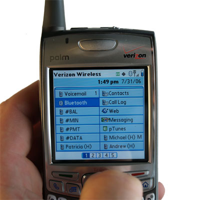 Treo 700p bluetooth option
