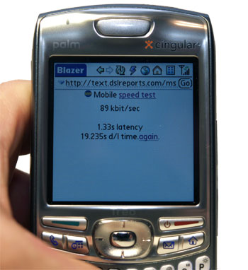 Treo 680 speed test